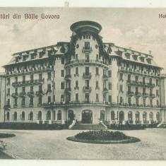 cp Govora : Hotel Palace - circulata 1927, timbre