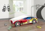 Set Pat Tineret 160x80 Speed Race Car Red + Saltea