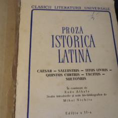 PROZA ISTORICA LATINA-CAESAR-SALUSTIUS-TIT. LIVIUS-TACITUS SUETONIU-TRAD ALBALA