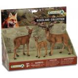 Set 3 figurine Animale din padure Collecta, plastic, 23 x 18 cm, 3 ani+