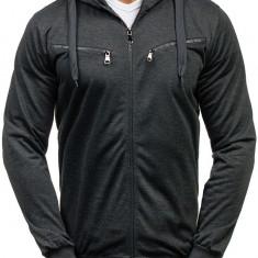 Bluză cu glugă pentru bărbat grafit Bolf 7080