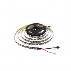 Banda de LED-uri RGB WS2812B cu Protecţie la Umiditate - 30 LED-uri, 5 m