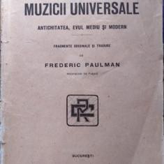 Istoria muzicii universale - Antichitatea, Evul Mediu și Modern