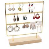 Cumpara ieftin Expozor metalic pentru Cercei - Culoare Aurie / Alba - WZ3931