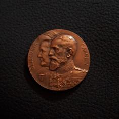 Medalie Regele Carol I - Regina Elisabeta - 1913