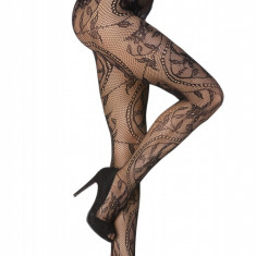 STK153-1 Ciorapi sexy din plasa, cu model vintage