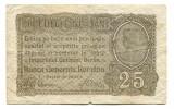 Ocuatia germana in Romania 25 bani 1917   VG    Serie si numar: F.8012513