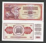 IUGOSLAVIA 100 DINARI DINARA 1986 UNC [1] P- 90c , necirculata