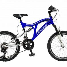 Bicicleta copii MTB FS 20 FIVE Buizel cadru otel culoare albastru alb varsta 7 10 ani