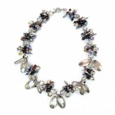 Colier din perle naturale si cristale, multicolor