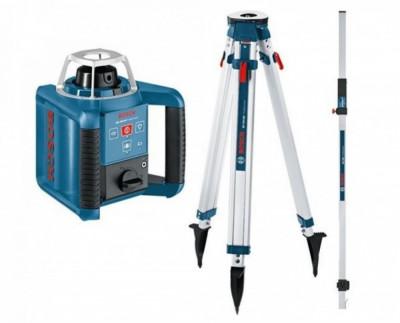 Bosch GRL 300 HV Nivela laser rotativa (300 m) + BT 170 Trepied + GR 240 Rigla foto