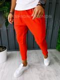 Pantaloni VAGABOND - de trening pentru barbati - slim fit - rosii - A6355