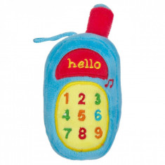 Jucarie zornaitoare,model telefon, 16cm, cu sunete, albastru