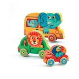 Set 3 puzzle din lemn cu figurine, Pachy si Co Djeco