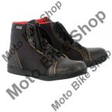 MBS Ghete moto piele/textil Oxford Jericho Stealth, impermeabile, negre, 43, Cod Produs: BM11043OX