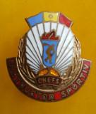 SV * Romania   INSIGNA  RSR  *  INSTRUCTOR SPORTIV  *  CNEFS, Romania de la 1950