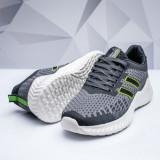 Pantofi sport barbati gri cu verde Zacky -rl