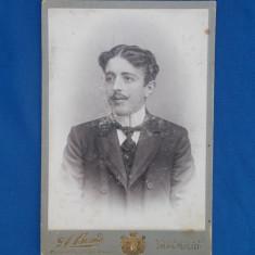 FOTOGRAFIE VECHE PE SUPORT DE CARTON , ALFRED BRAND , SINAIA-PLOESCI , 1904