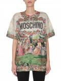 Cumpara ieftin Tricou dama MOSCHINO ROUND NECK T-SHIRT 07085440 1888 Gri