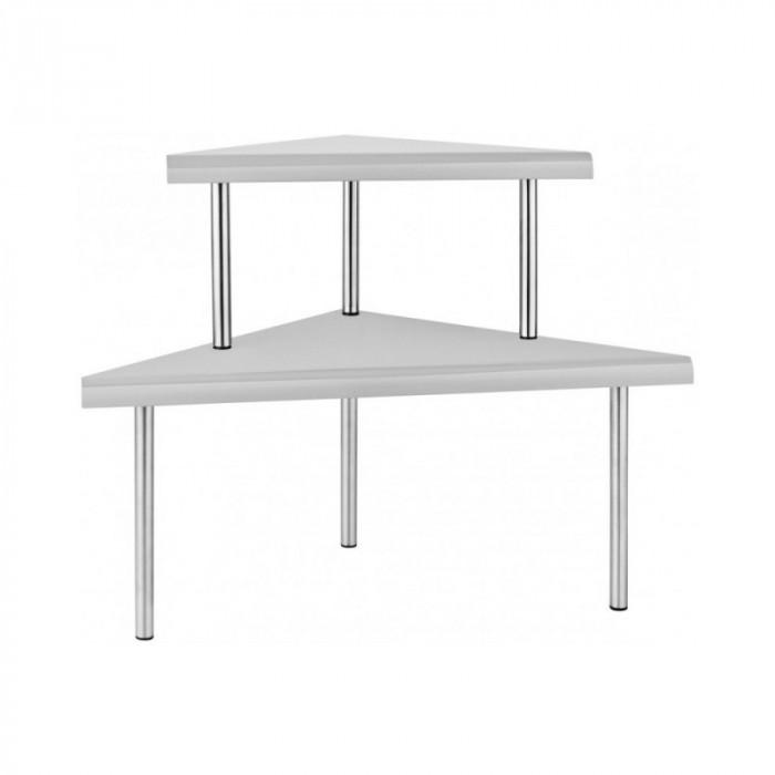Raft metalic pentru bucătărie Grunberg, Gri-Argintiu