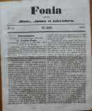 Foaia pentru minte , inima si literatura , nr. 14 , 1863 , Brasov , I. Muresanu