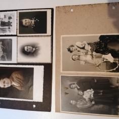 LOT 4 FILE ALBUM  POZE / FOTOGRAFII/  VECHI ALB NEGRU  ANII 20-30