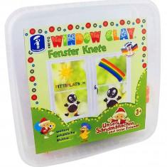 Cutiuta cu plastilina decorativa pentru geam PlayLearn Toys