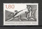 Franta.1981 C.M. de scrima Clermond Ferrand MF.833, Nestampilat