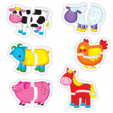 Baby Puzzle: Ferma (2 piese) PlayLearn Toys, Galt