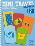 Mini travel Djeco joc de memorie cu 60 de cartonase