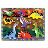 Puzzle Lemn in Relief Dinozauri, Melissa & Doug
