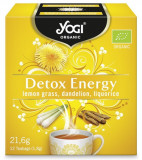 Ceai BIO detoxifiant cu lemongrass, papadie si lemn dulce, 12 plicuri - 21,6g Yogi Tea
