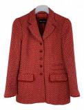 Sacou dama Rena Lange marimea L lana rosu elegant XY1