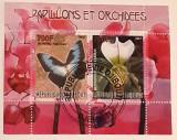 Cumpara ieftin Djibouti 2007 flori, orhidee, Fluturi bloc uzat, Nestampilat