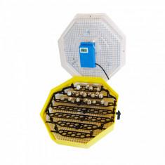 Incubator electric pentru oua cu dispozitiv de intoarcere, termometru si termohigrometru, Cleo, model 5DTH