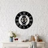 Ceas decorativ pentru perete, Ocean, metal 100 procente, 48 x 48 cm, 874OCN2011, Negru