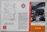 "Diham-Bucegi.Pliant turistic ONT ""Carpati"".Cabane anii '60."