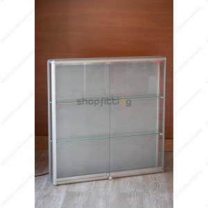 Vitrina din sticla, cu fixare pe perete, 1000x150x1000 mm (VI-CB3-VN)