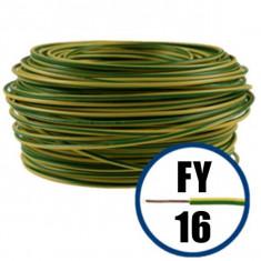 Cablu electric FY 16 – 100 M – H07V-R – galben / verde