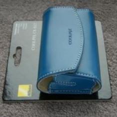 Nikon CS-S12 - Toc din piele pentru Nikon Coolpix - culoare albastru