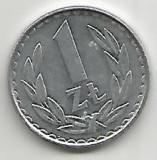No(3) moneda-Polonia ,1 Zlot 1983, Asia, Aluminiu