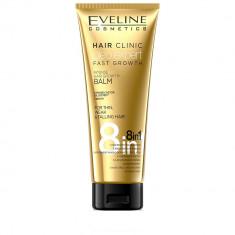Cumpara ieftin Balsam de par, Eveline Cosmetics, 8 in 1 Hair Clinic Oleo Expert pentru cresterea parului, 250 ml
