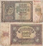 1941 (26 V), 1.000 kuna (P-4a) - Croația!