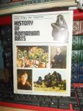VASILE DRAGUT - HISTORY OF ROMANIAN ARTS / ISTORIA ARTELOR ROMANESTI , 1990