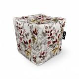 Cumpara ieftin Fotoliu Units Puf (Bean Bags) tip cub, impermeabil, flori si fluturi