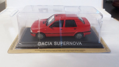 macheta dacia supernova  + revista masini de legenda nr.45 - 1/43, noua. foto