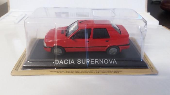 macheta dacia supernova  + revista masini de legenda nr.45 - 1/43, noua.