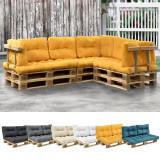 [en.casa]® Perna spate Paletten HTPC pentru mobilier paleti, 60 x 40 x 20/10 cm, poliuretan, galben mustar HausGarden Leisure, [en.casa]