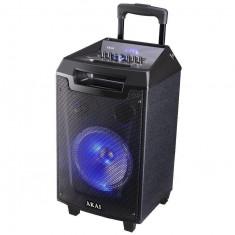 Resigilat: Boxa portabila Akai ABTS-AW8 cu BT, USB, Radio FM, lumini disco, microfon fara fir