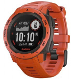 Ceas activity tracker Garmin Instinct, GPS, Rezistent la apa, Bluetooth (Rosu)